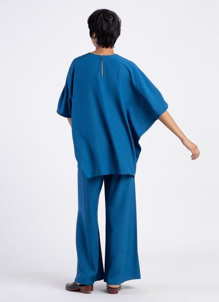 KAAREM Kite Round Neck Silk Tunic Top