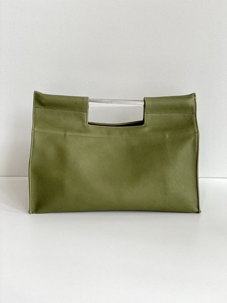 Erin Templeton Record Tote Bag - Green Leather