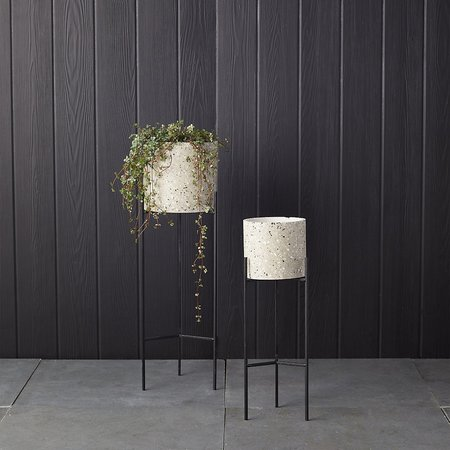 Bloomingville Cement Terrazzo Planter with Metal Stand
