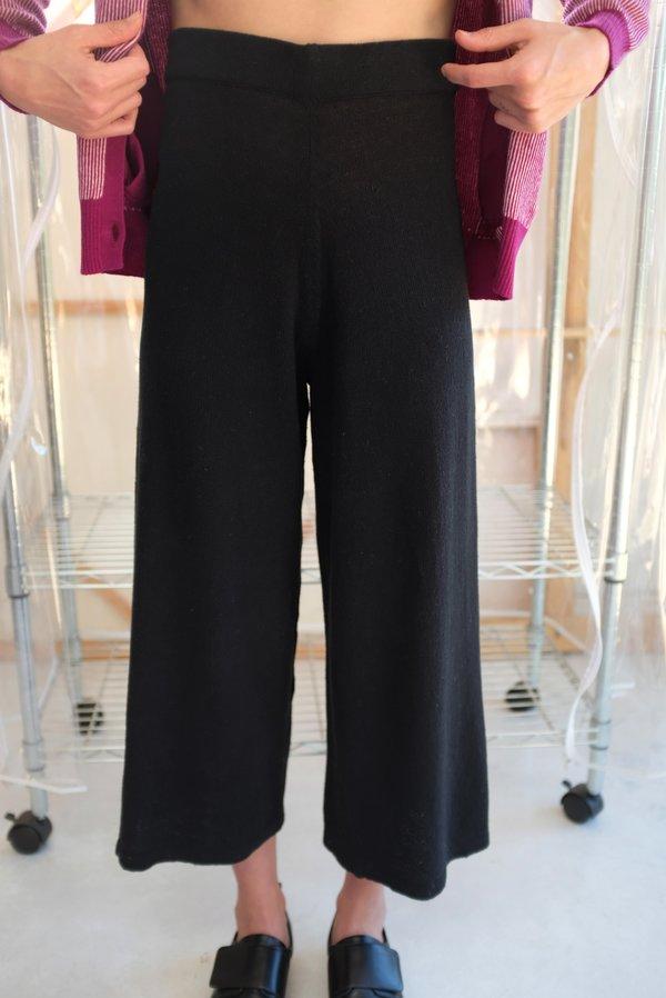 Beklina Culotte Knit Trouser - Black