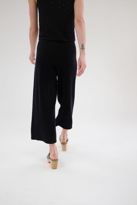 Beklina Culotte Knit Trouser - Black