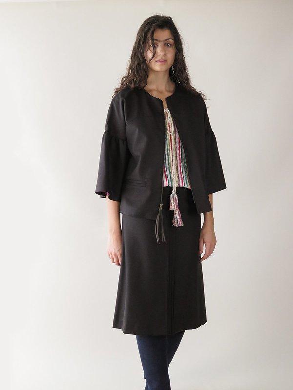 erica tanov fontaine jacket - paen black