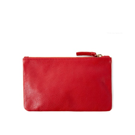 Clare V. Wallet Clutch - Cherry Red