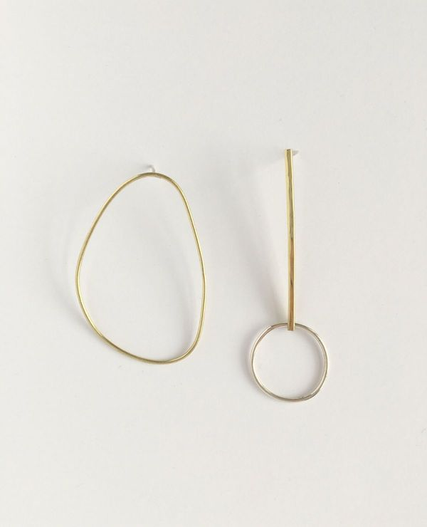 Yellow Jewellery Alice + Olive Combo Earring - Brass