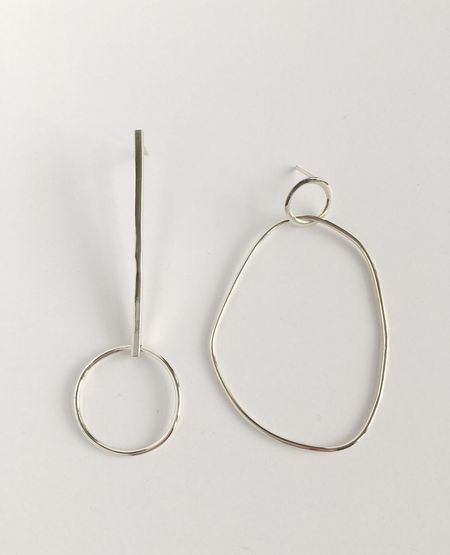 Yellow Jewellery Alice + Olive Combo Earring - Silver