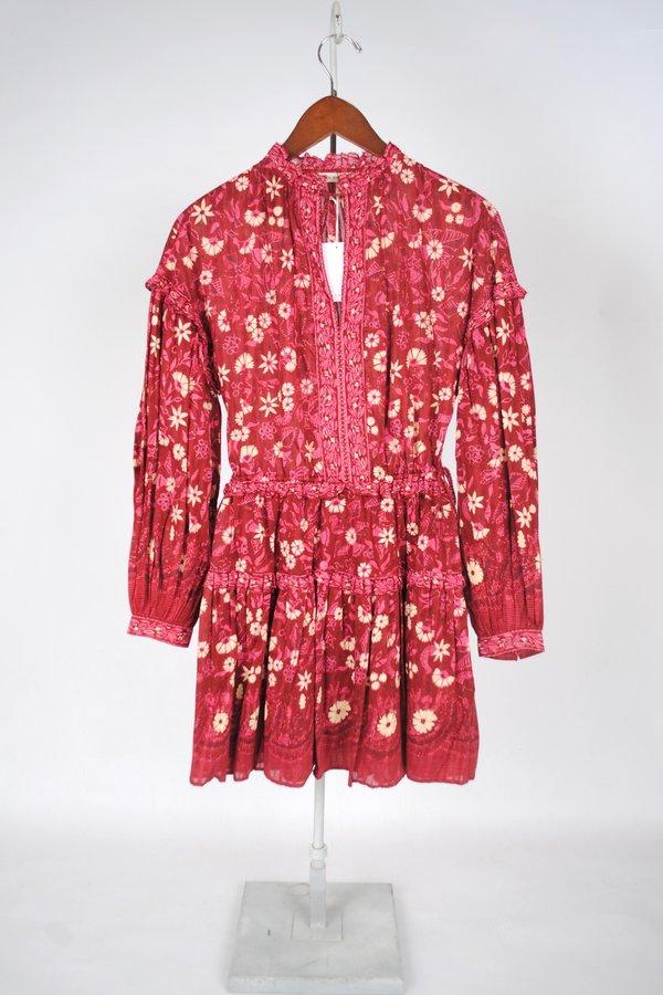 Ulla Johnson Marigold Dress - BURGUNDY