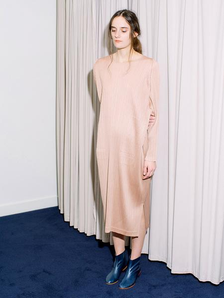 Issey Miyake Midi Dress - Warm Blush