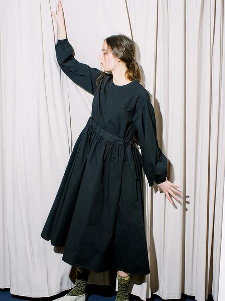 Cosmic Wonder Meditation Organic Cotton Monastery Dress - Black