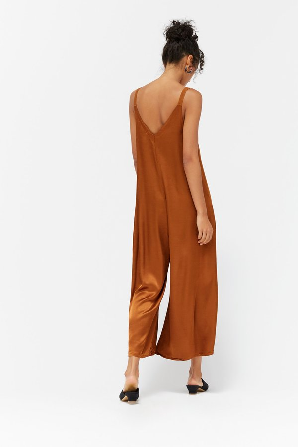 Lacausa Santi Jumpsuit- bourbon