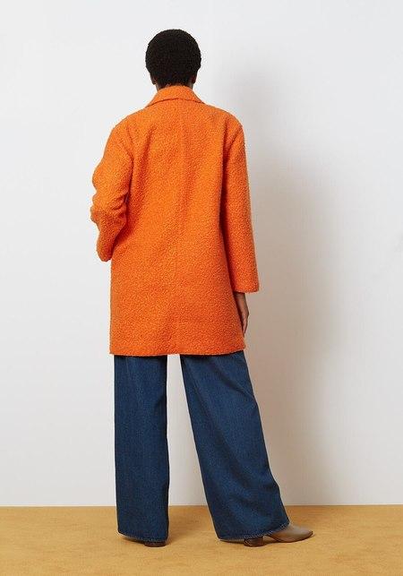 You Must Create Heroes Coat - Orange Boucle