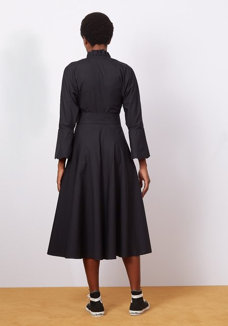 Batsheva Swing Dress - Black Cotton