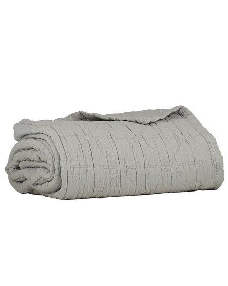 Kids Camomile London Diamond Baby Blanket - Light Grey