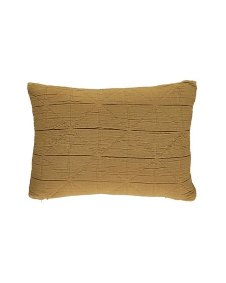 Camomile London Diamond Cushion Cover - Ochre