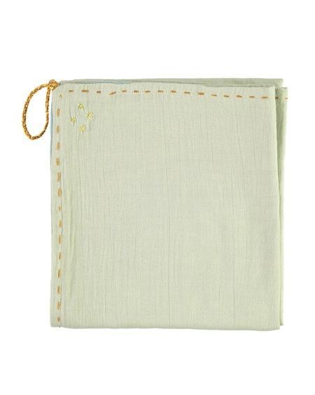 Kids Camomile London Single Layer Swaddle/Blanket - Mint