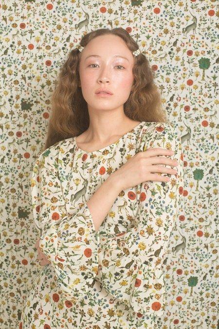 Samantha Pleet Freda Blouse - Ivory Illuminated