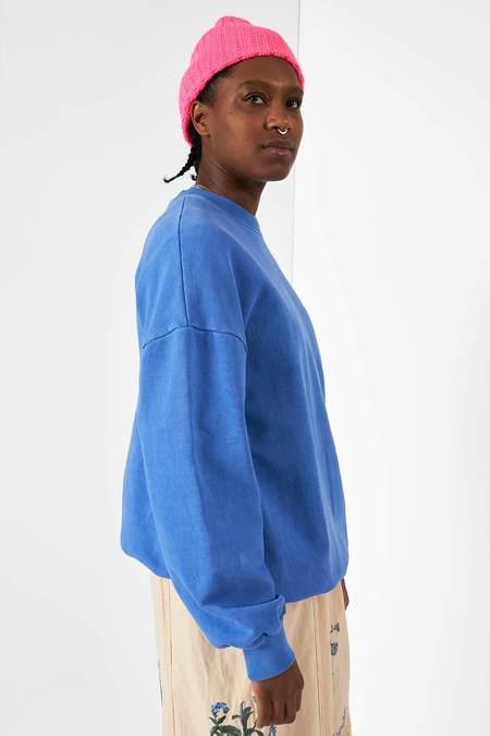 Anglan Pig Washing Sweatshirt - Blue