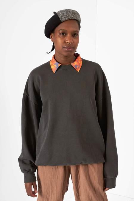 Anglan Pig Washing Sweatshirt - Charcoal
