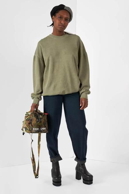 Anglan Pig Washing Sweatshirt - Khaki