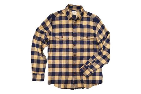 Faherty Brand Vintage Twill Flannel Shirt - Navy/Gold