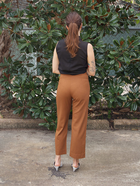 Ali Golden Silk Fly Front Pants - Copper