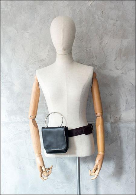Amorphose Ring Pochette - Imitation Silver Python Leather