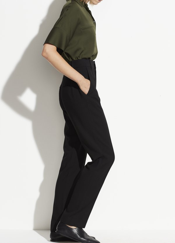 Vince High Waist Tailored Pant - black