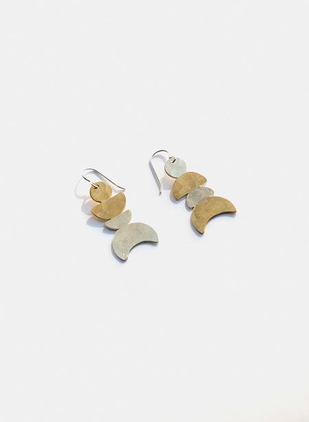 Knuckle Kiss Many Moons Earrings - Brass/Silver