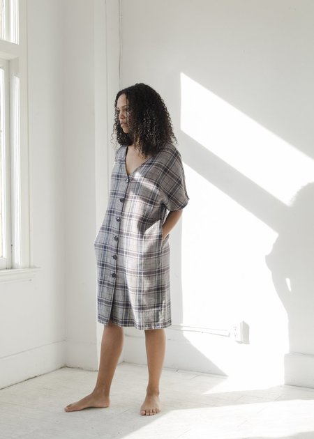 Esby Apparel Maci Dress - Midnight Vintage Plaid