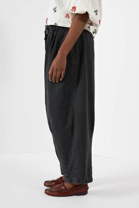 Anglan Denim Balloon Pants - Faded Black