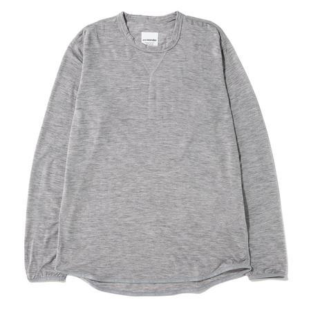 and wander Merino Base Long Sleeve T-Shirt - Grey