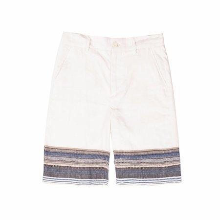 Krammer & Stoudt Bogart Shorts - White/Navy Texture Stripe