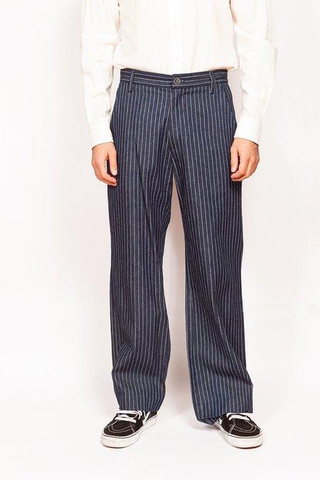 Krammer & Stoudt Bogart Wide Leg Denim Trousers - Wide Leg Denim