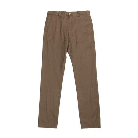 Krammer & Stoudt Cary Basketweave Trousers - Olive Basketweave