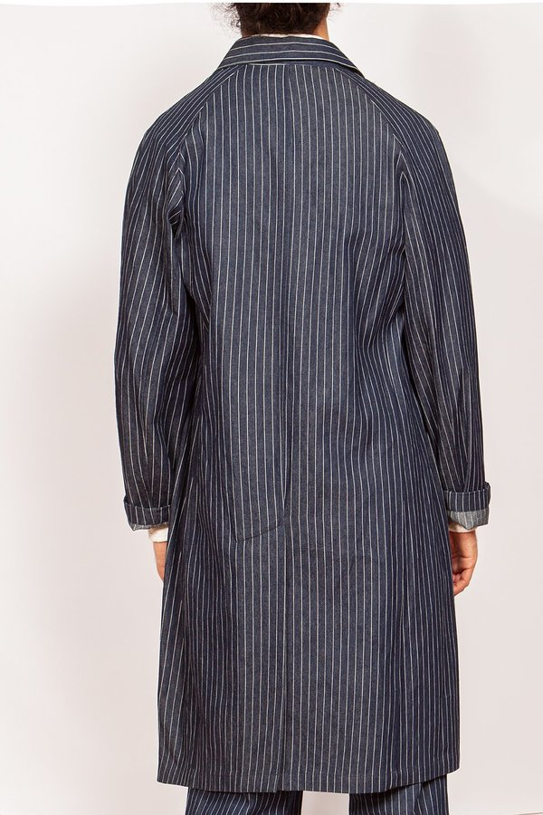 Krammer & Stoudt Chore Coat - Navy Pinstripe Denim
