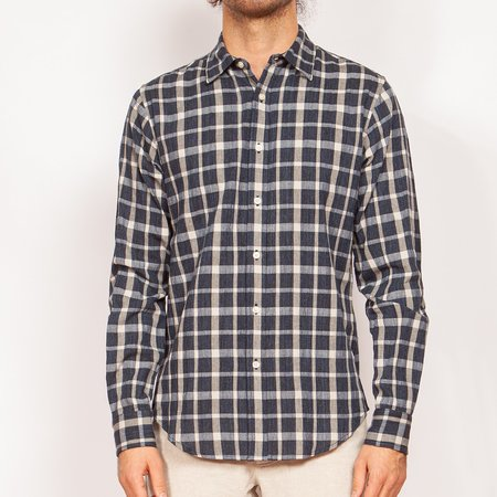 Krammer & Stoudt Grant Dress Shirt - Navy Plaid