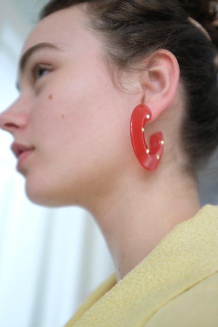 Rachel Comey Hula Earrings - Red