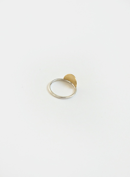 Knuckle Kiss Horizon Ring - Brass/Silver