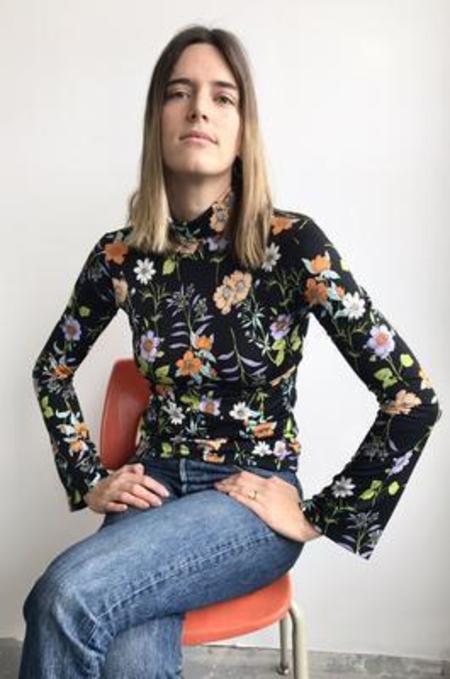 Eliza Faulkner Flare Turtleneck - Floral