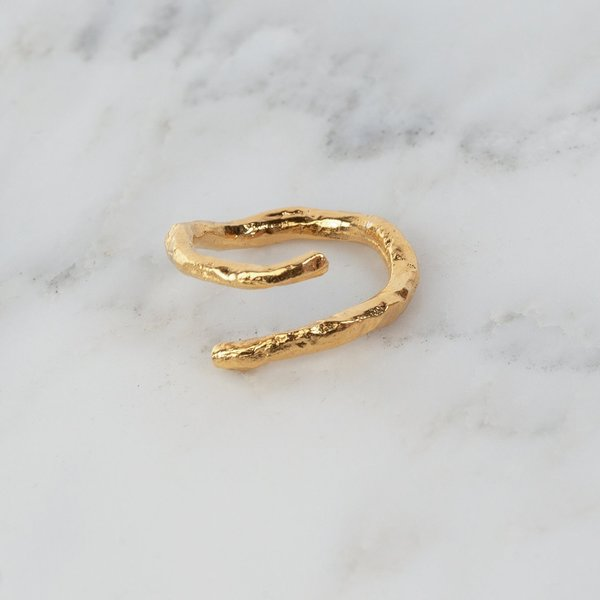 Par Ici Textured Wrap Ring