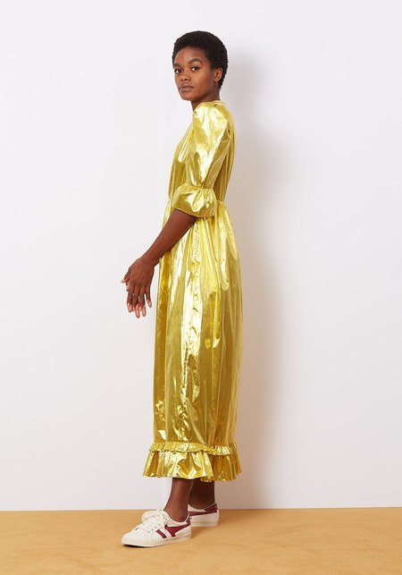 Batsheva Collarless Kate - Gold Lame
