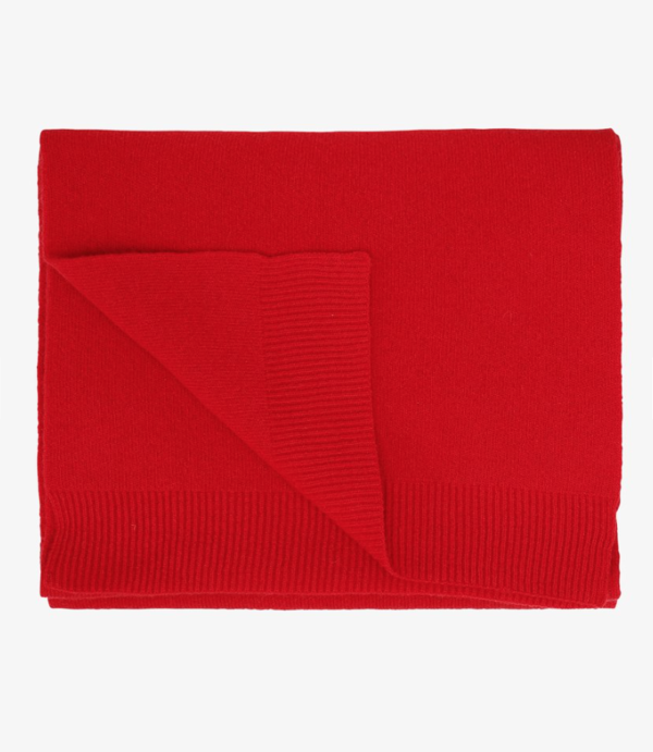 unisex Colorful Standard merino wool scarf - scarlet red