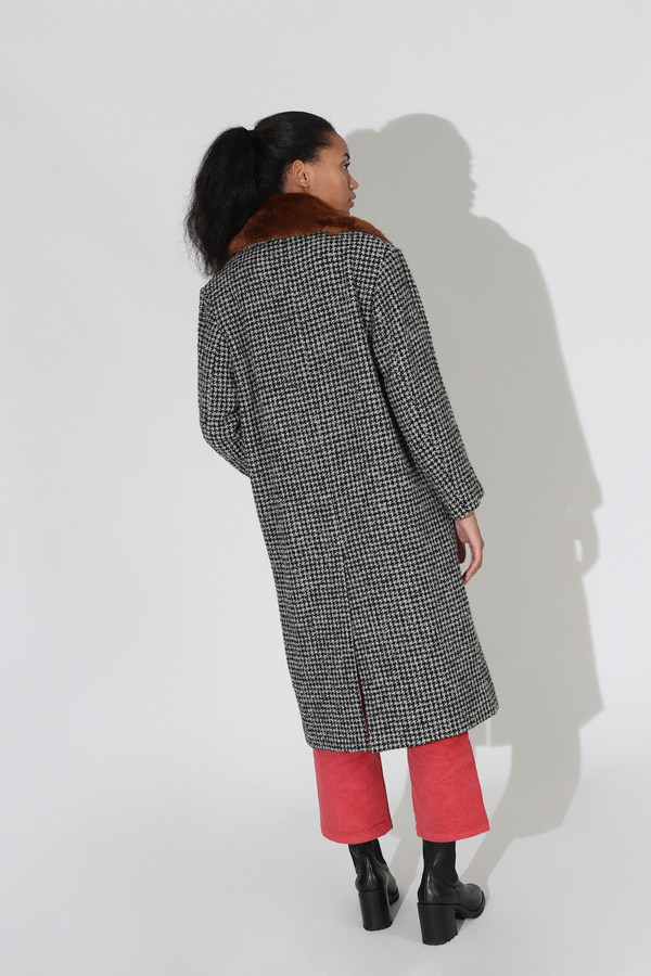 No.6 Edgar Coat - Black/Houndstooth Boucle