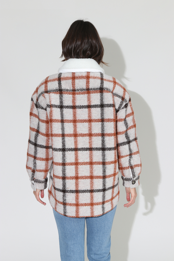 No.6 Wilson Jacket - Natural Fleece Lined Plaid