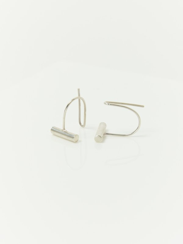 Ladies & Gentlemen Bar Ear Climbers - Sterling Silver