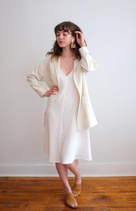 Megan Huntz raw silk Emma Blazer