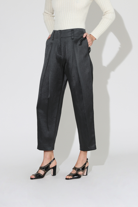 No.6 Hollis Sateen Pant - Petrol