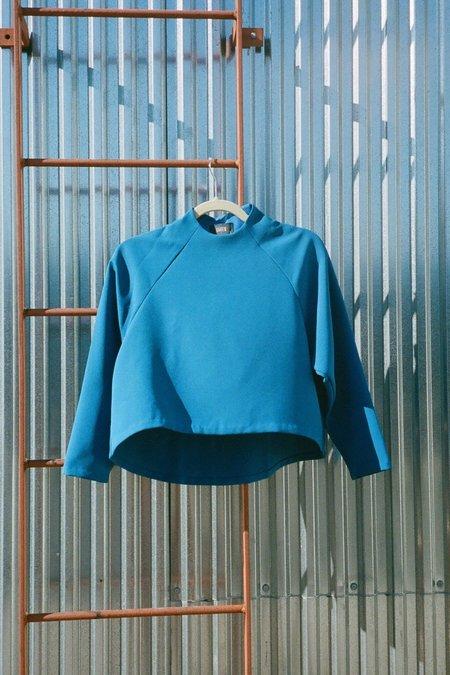KAAREM Ostra Long Sleeve Raglan Top - Blue
