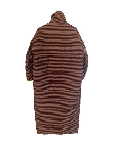 Mara Hoffman Frances Coat - Black/Brown Espresso Stripe