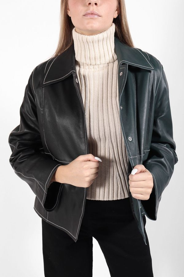 Stand Studio Liora Jacket - Black/Green