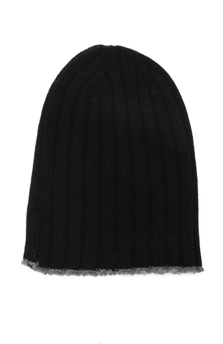 40 COLORI Ribbed Tipped Cashmere Beanie - Embassy/Kensington